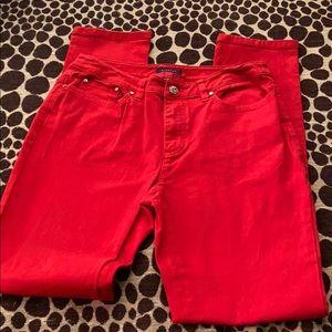 Anne Klein red jeans